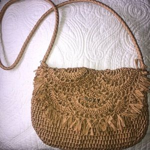 Roxy Wicker Crossbody Purse